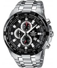 Casio EF-539D-1AVEF Man byggnad svart silver chronographklockan