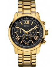 Guess W0379G4 Man horisont guldpläterad chronographklockan