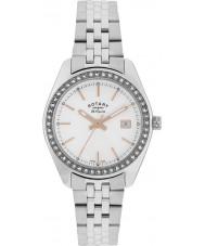 Rotary LB90110-21 Damer les origin Lausanne sten set silver stål watch