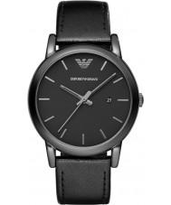 Emporio Armani AR1732 Mens klassiskt svart läderrem klocka