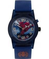Disney SPD3425 Pojkar förundras ultimata spiderman blinkande klocka med blå silikonband