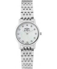 Rotary LB90016-07 Damer les origin silver stål armband klocka