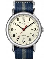 Timex T2N654 Mens blå grå weeke glida genom klocka