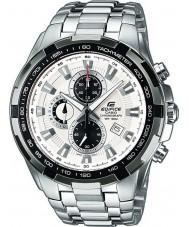 Casio EF-539D-7AVEF Man byggnad vit silver chronographklockan
