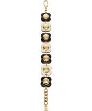 Orla Kiely B4796 Damer seriekoppling 18ct guld monokrom blomma armband