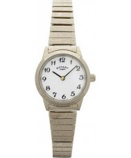 Rotary LB00762 Damer klockor guldpläterade expander armband klocka