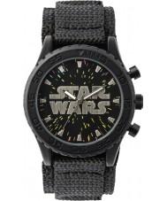 Disney STW1301 Pojkar svart kardborrband klocka med stjärnratten