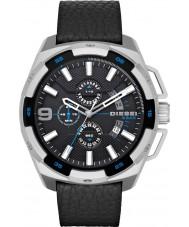 Diesel DZ4392 Mens tunga svart läder chronographklockan