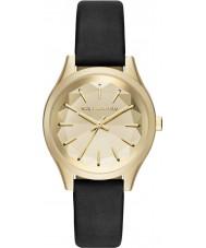 Karl Lagerfeld KL1617 Damer Belle svart läder Strap Watch