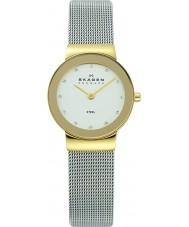 Skagen 358SGSCD Damer klassik vit silver mesh watch
