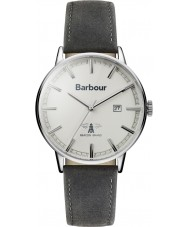 Barbour BB043WHGY Mens Whitburn grå läderrem watch