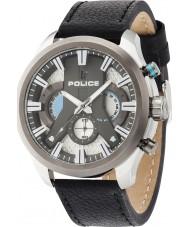 Police 14639JSTU-04 Mens cyklon svart läderrem klocka