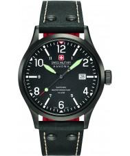 Swiss Military 6-4280-13-007-07 Mens undercover svart läderrem klocka