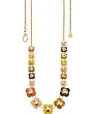 Orla Kiely N4021 Damer seriekoppling 18ct guld multifärgad lång blomma halsband