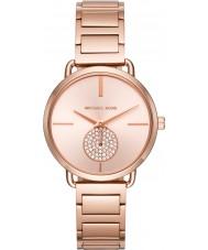 Michael Kors MK3640 Damer Portia ros guldpläterad armband klocka