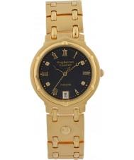 Krug-Baumen 5118DM Charleston 4 diamant svart urtavla guld band