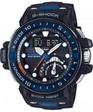Casio GWN-Q1000-1AER Mens g-shock radiostyrd svart harts rem klocka
