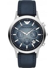 Emporio Armani AR2473 Mens klassiska kronograf silver blå klocka