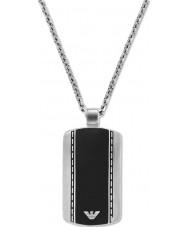Emporio Armani EGS1921040 Mens snygg sammet två ton stål halsband