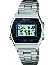 Casio B640WD-1AVEF Mens samling silver stål armband klocka