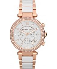 Michael Kors MK5774 Ladies parker två ton keramiska chronographklockan