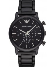 Emporio Armani AR1895 Mens klassiska kronograf svart ip klocka