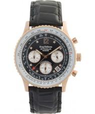 Krug-Baumen 400703DS Air resande diamant svart urtavla steg guld fall