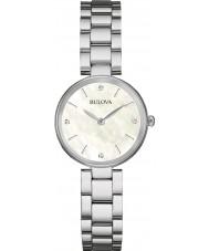 Bulova 96S159 Damer diamant galleri silver stål armband klocka