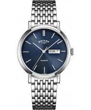 Rotary GB05300-05 Mens klockor windsor silver tonen stål watch