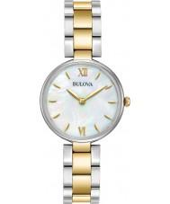 Bulova 98L226 Damer klänning två ton guld armband klocka