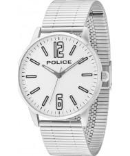 Police 14765JS-04M Mens Esquire silver stål armband klocka