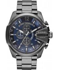 Diesel DZ4329 Mens mega chef rödgods stål chronographklockan