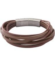 Fossil JF86202040 Mens multi wrap brun armband