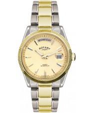 Rotary GB02661-20 Mens klockor havana silver guldklocka
