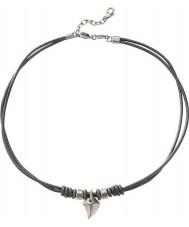 Fossil JF85832040 Mens avslappnade svart läder halsband