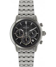 Rotary GB02876-04 Mens klockor monaco svart silver chronographklockan