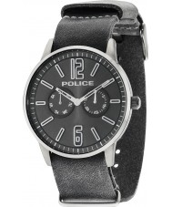 Police 14766JSU-61 Mens esquire x grå läderrem watch