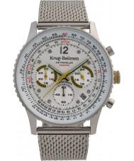 Krug-Baumen 412318DS Mens luftresande diamant klocka
