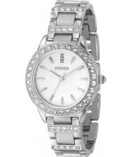 Fossil ES2362 Damer silver sten uppsättning watch