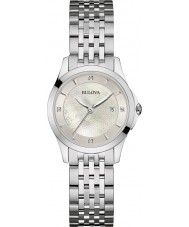 Bulova 96S160 Damer diamant galleri silver stål armband klocka
