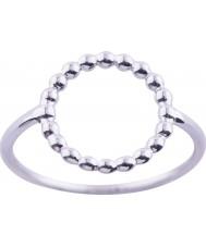Nordahl Jewellery 125206-54 Damer rodiumpläterad silverring - storlek n