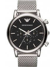 Emporio Armani AR1808 Mens klassiska kronograf silver mesh armband klocka