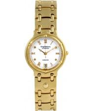 Krug-Baumen 5116DM Charleston 4 diamant vit urtavla guld rem