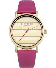 Daisy Dixon DD009PG Damer vallmo guld rosa läderband watch
