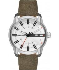 Diesel DZ1781 Mens armbar grön läderrem watch