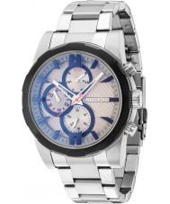 Police 14541JSTB-13M Mens matchcord silver stål armband klocka