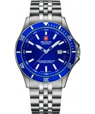 Swiss Military 6-5161-2-04-003 Mens flaggskepp silver stål armband klocka