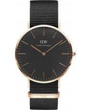 Daniel Wellington DW00100148 Klassiskt svart cornwall 40mm klocka