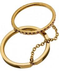 Edblad 41530045-M Ladies glänsande guldringar - storlek p (m)