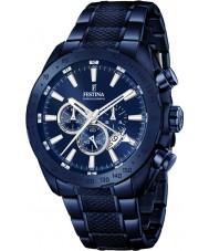 Festina F16887-1 Mens prestige blå stål chronographklockan